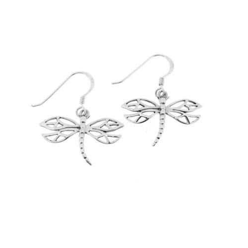 Outlander Inspired Scottish Dragonfly Drop Style Pair Of Earrings